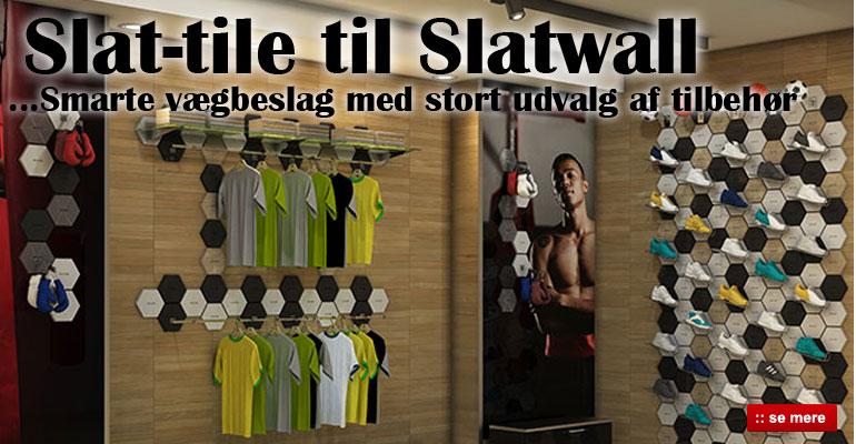 Slat-tile til Slatwall og Rillepanel - Køb butiksinventar her