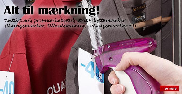 Alt til mærkning af tekstiler / textiler - Køb her
