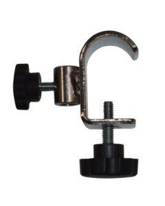 Beslag til skilteholder med montering på ovalt eller rundt rør