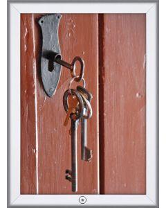 Smart unbraco lås på plakatramme i A4 - Perfekt mod tyveri