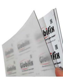 Plastiklomme i A4 format med horisontal / vandret visning - Med klistre