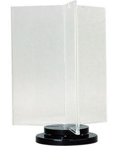 Skilteholder i akryl med drejelig funktion - Med plads til 6 stk. M65 flyers