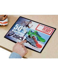 A4 plakatholder til bord - Smart skiltning og god alternativ til klistermærker - Online salg