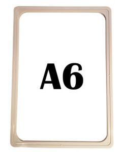 Plastskilteholder A6 format - Kan bruges til ethvert formål