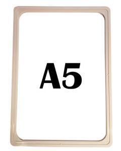 Plast skilteholder a5 i grå farve - Kan bruges til ethvert skilte formål