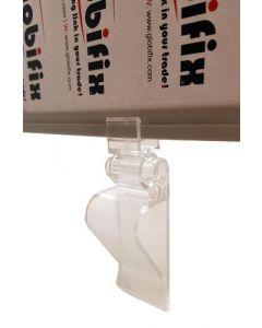 Justerbar clips til plastrammer - Køb skilte til kasser og lignende steder