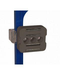 Sort magnet holder til skilte ramme - Perfekt for skiltning på steder af jern og metal