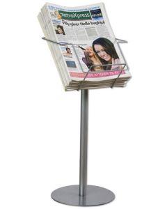 Avis stander - Stativ til aviser i flot design stående stabilt på gulvet