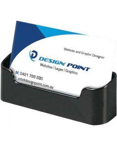 Sort holder til firmakort i horisontalt visning - Fremstillet af akryl