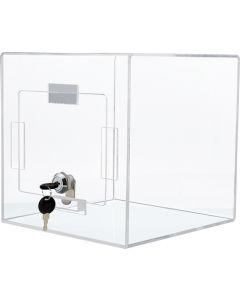 Box i klar akryl til konkurrencer og stemmesedler