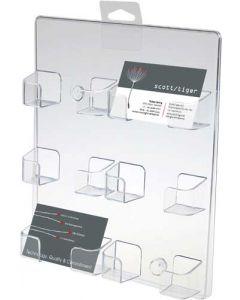 Smart visitkortholder til væg-ophæng - Af akryl til billig pris