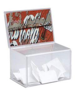 Smart konkurrence-boks af klar akryl - Med praktisk skilteholder