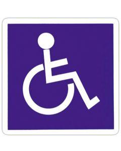 Handicap klistermærke i hvid og blå - For korrekt skiltning