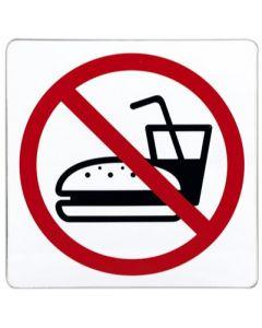 Ingen mad og drikke skilt - Brug pictogram til skiltning
