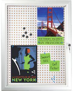 Informationsskab til magneter og stifter - Med lås