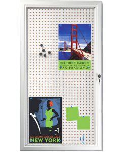 Skab med lås til informationer - Perfekt til udendørs brug med lås