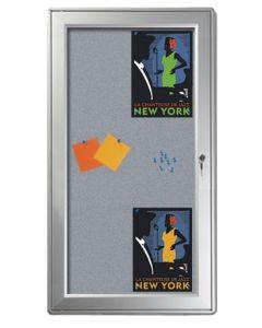 Infoskabet kan monteres vertikal eller horisontalt på væggen