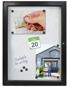 Stort infoskab til 9 styk A4 papir - Køb infoskabe og opslagsskabe online på globifix.com til gode priser og hurtig levering