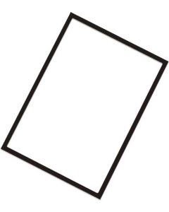 Plast-plade A4 med magnet ramme - Kan bruges til ethvert skilte formål