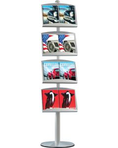 Flot enkeltsidet brochureholder på stander - Kan bruges i enhver handel