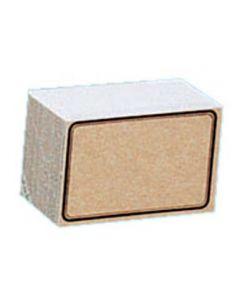 Pap karton 8x6 cm i brun farve - Pakket med 100 stk. til billig pris