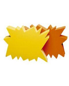 Skilte-karton i gul og orange på hver side - Perfekt til udsalg og tilbud