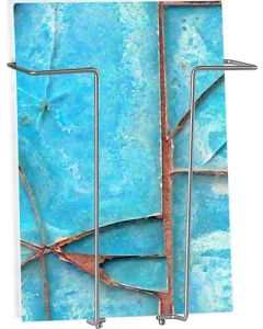 A4 vægophængt brochureholder - Trådmetal i silver far