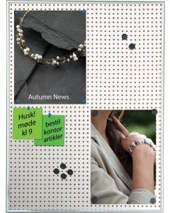Ophængs-tavle til papir via magnet og stift - flot design