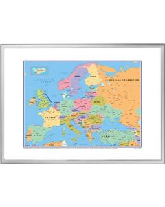 Flot og detaljeret europa kort - Skrivebar og magnetisk opslagstavle