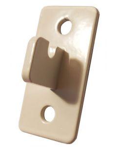 Vægbeslag til gitter af tråd metal, med to hul for montering på væggen
