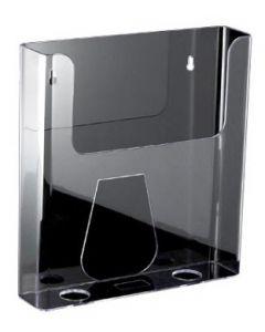 Holder til A4 papir fremstillet i klar akryl - Gør det muligt at få fremvist brochureholder på Slatwall