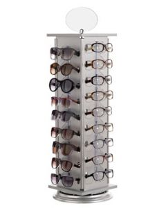Smart roterende brille stativ til 36 par briller - Velegnet til bord eller butiksdisk
