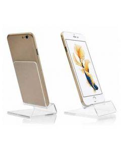 Mobiltelefon holder i klar akryl - Display til smartphone og mobil