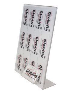 Smart A4 skilteramme med holder til visitkort - Kan bruges i enhver handel