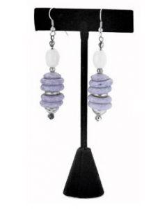 Smykkedisplay i lækkert stof materiale - Perfekt til ørestikker / øreringe