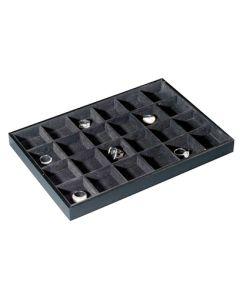 Smykke-bakke / holder med 24 rum - Perfekt til ringe og smykker