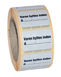 Smarte byttemærker / bytte etiketter på rulle