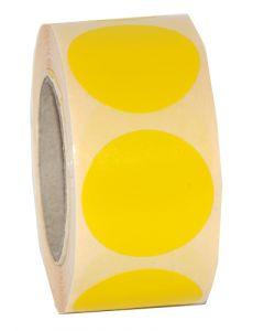 Blank etikette i gul til prismærkning - Perfekt til tilbudsvarer