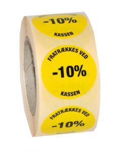 10% etikette til nedsatte varer - Perfekt til brug ved udsalg