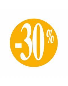 -30% pris etikette på rulle i farve orange - Smart prismærkning