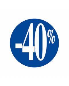 -40% pris etikette til nedsatte varer - Nemt med klæbemasse