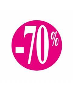Prisetikette på rulle med -70% - Perfekt til udsalgsvarer