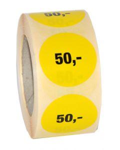 Etikette med 50,- // Gør prismærkning nemt og enkelt