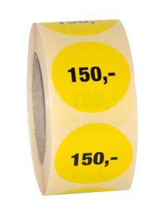 Etikette med 150 kroner - Super smart til brug ved udsalg eller tilbud