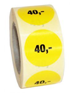 Prismærke rulle med 40,- // Nemt og enkelt til tilbuds produkter
