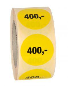400,- påtryk på etikette med klæbemasse - Smart prismærkning