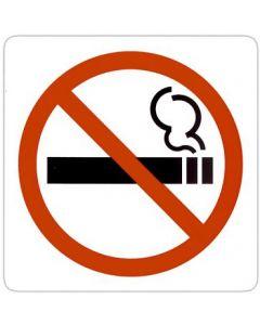 Skilt med rygning forbudt - Nemt at montere piktogram med selvklæbe