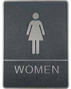 Virkelig flot pictogram / vægskilt med dame / women