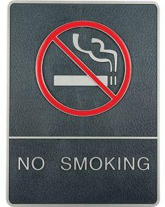 Vægskilt med No smoking tekst og billede - Perfekt til områder med rygning forbudt