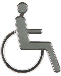 Handicap figur / skilt i 3D - Perfekt til handicap skiltning på døre og facader